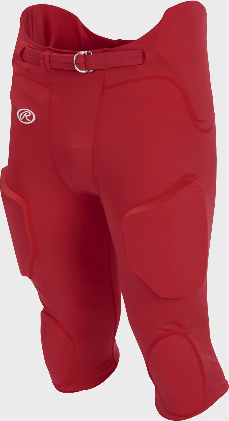 Front of Rawlings Scarlet Adult Lightweight Football Pants - SKU #FPL