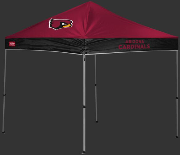 A red/black Arizona Cardinals 9x9 shelter with a team logo on the left side - SKU: 03231081112