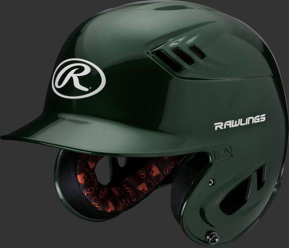 Velo Junior Batting Helmet Dark Green