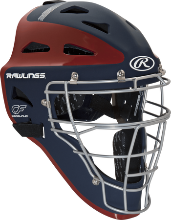Velo Adult Catchers Helmet Navy/Scarlet