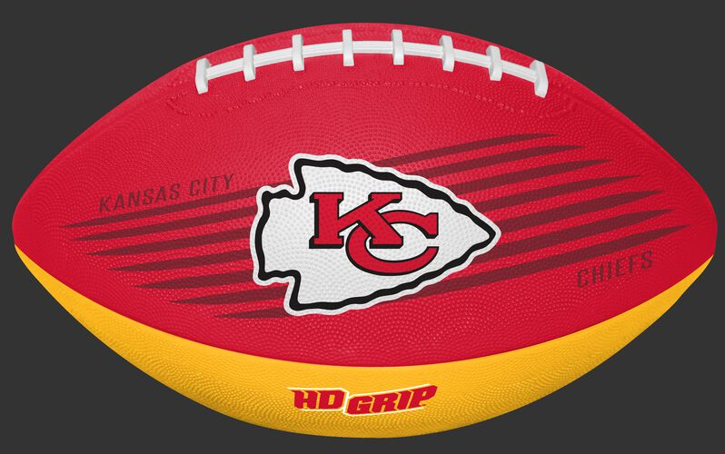 Red and Yellow NFL Kansas City Chiefs Downfield Youth Football With Team Logo SKU #07731071121