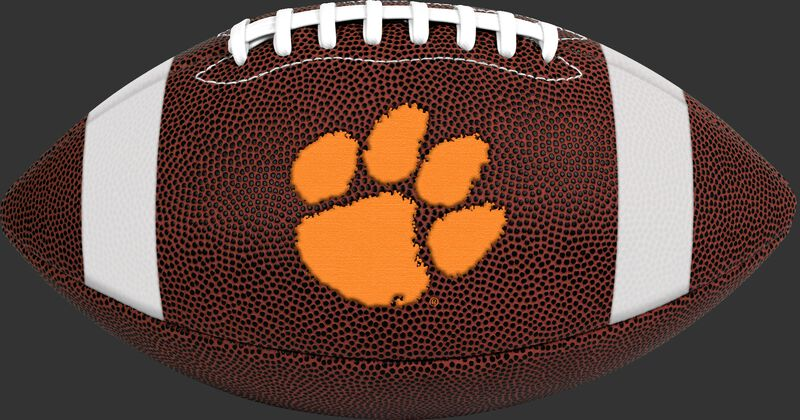 Brown NCAA Clemson Tigers Game Time Football With Team Logo SKU #04623010121