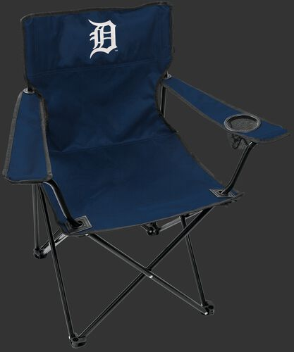 Front of Rawlings Navy Blue MLB Detroit Tigers Gameday Elite Chair With Team Logo SKU #06110027111