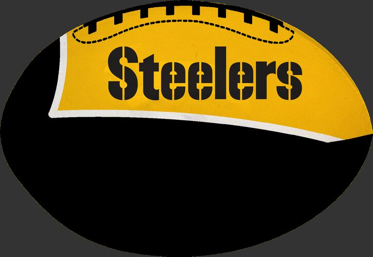 Black and Gold NFL Pittsburgh Steelers Football With Team Name SKU #07831082114