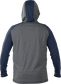 Back of Rawlings Navy/Gray Youth Hurler Lightweight Hoodie - SKU #YHLWH-GR/B-88 image number null