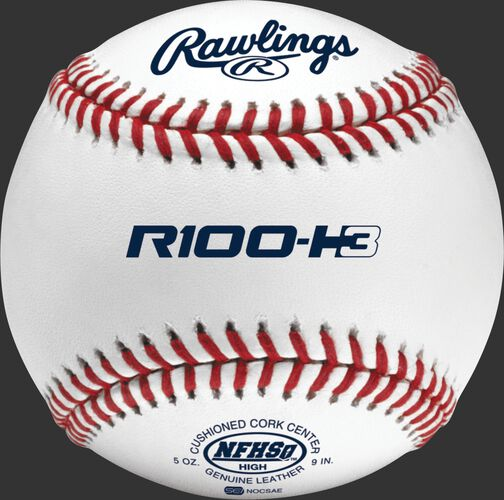 R100-H3 NFHS Official high school baseball with the NFHS logo