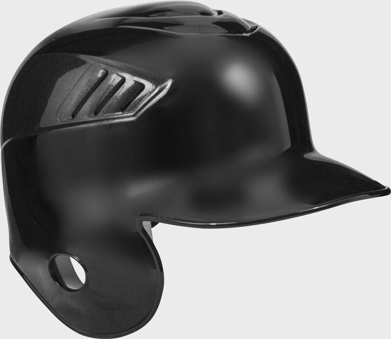 A black CFSEL Coolflo single flap batting helmet for left handed batters