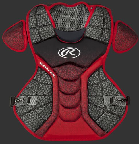 A black/scarlet CPVEL Velo series intermediate chest protector