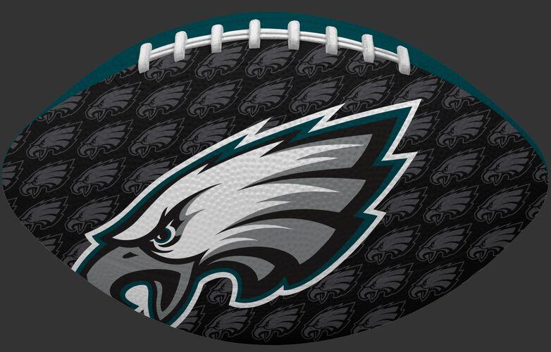Black side of a NFL Philadelphia Eagles Gridiron football with the team logo SKU #09501080122