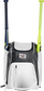Front of a white Rawlings Franchise baseball backpack with two bats in the side sleeves - SKU: FRANBP-W image number null