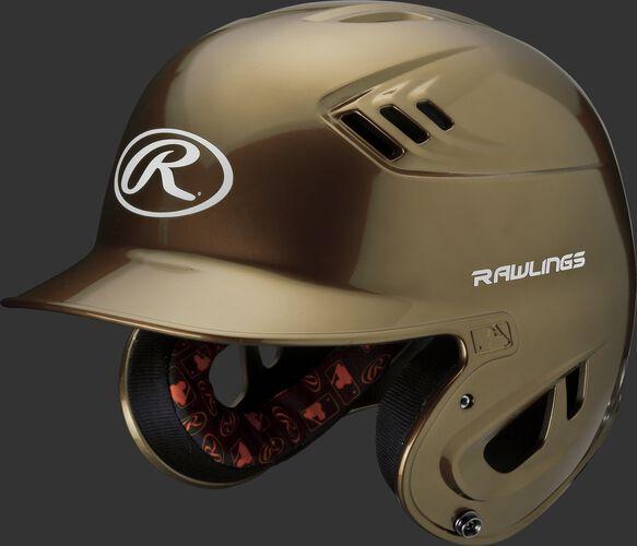 Velo Junior Batting Helmet Vegas Gold