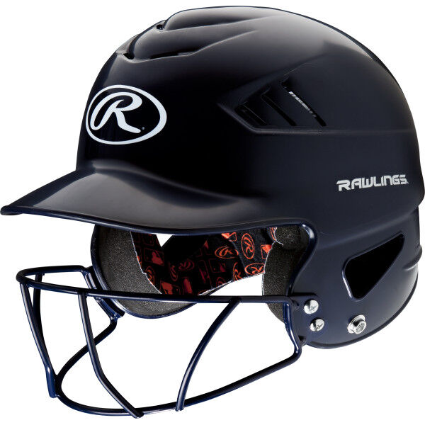 Coolflo Batting Helmet with Facemask Navy