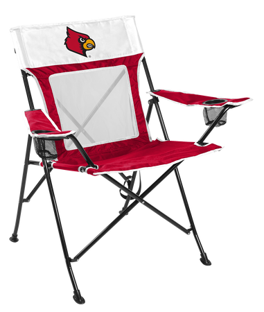 NCAA Louisville Cardinals Game Changer chair with the team logo