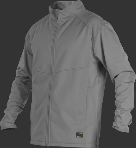 A gray Gold Collection mid weight jacket with long sleeves and full zip - SKU: GCMW2-BG