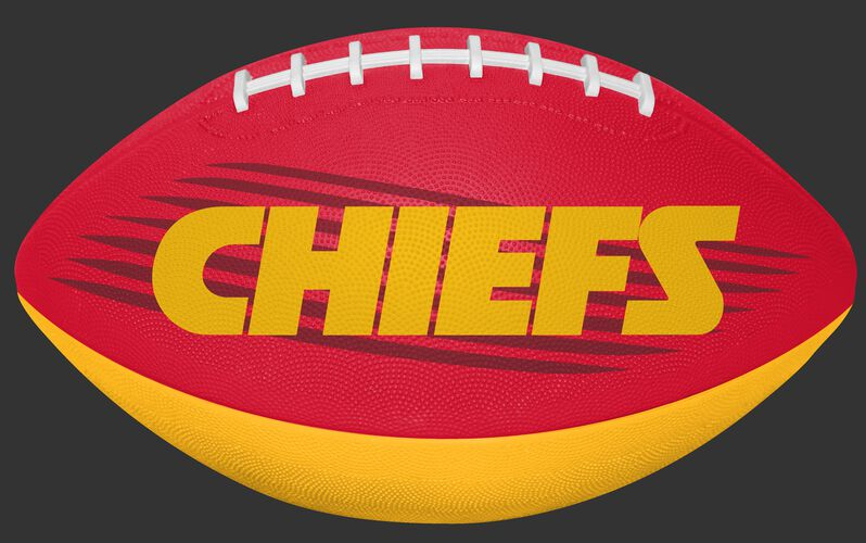 Red and Yellow NFL Kansas City Chiefs Downfield Youth Football With Team Name SKU #07731071121