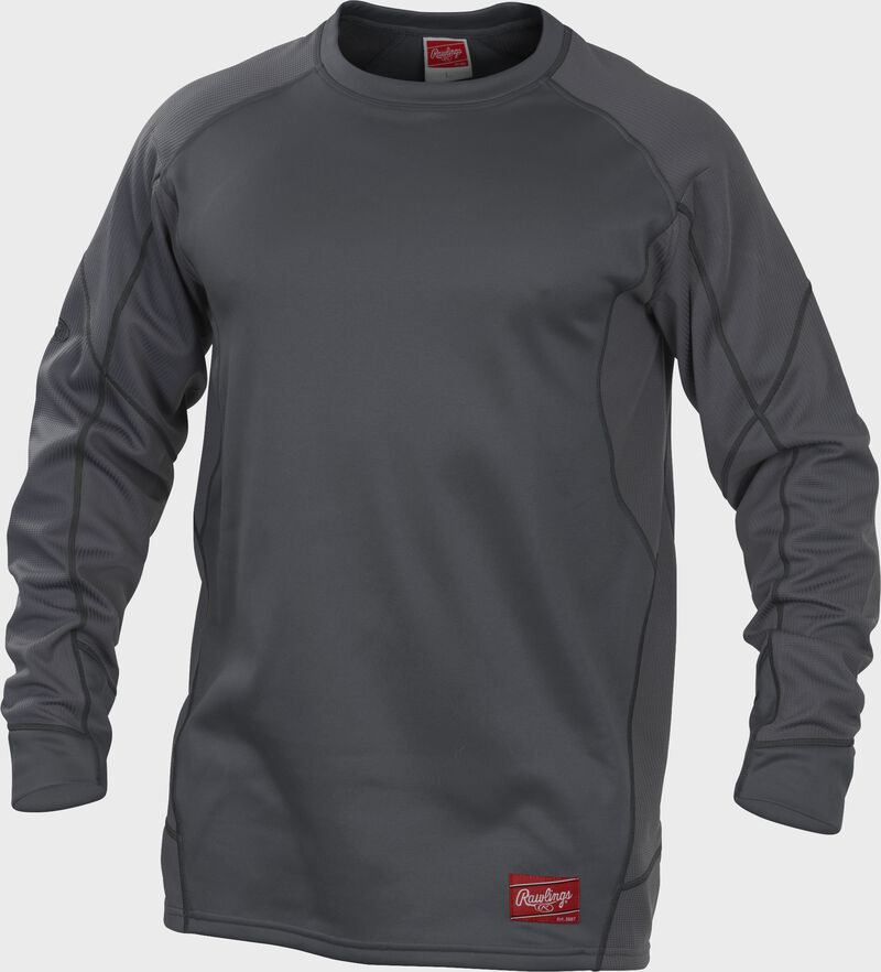 UDFP4 Dugout fleece pullover with a grey body and grey sleeves
