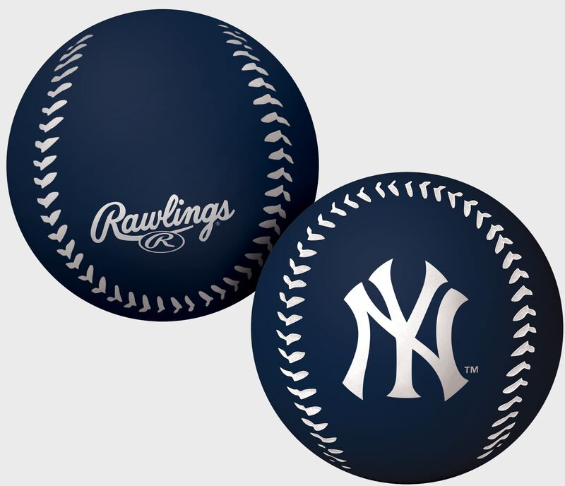 Rawlings New York Yankees Big Fly Rubber Bounce Ball With Team Logo on Front In Team Colors SKU #02870030112
