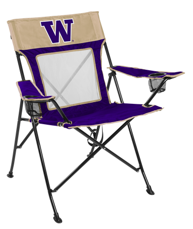 Front of Rawlings Gold and Purple NCAA Washington Huskies Game Changer Chair With Team Logo SKU #00643108111