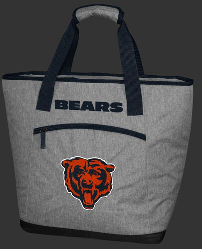 A gray Chicago Bears 30 can tote cooler with an embroidered team logo on the front - SKU: 10311062111