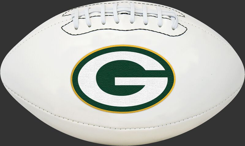White NFL Green Bay Packers Football With Team Logo SKU #06541068811