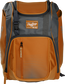 Front of an orange Franchise baseball backpack with gray accents and a orange Rawlings patch - SKU: FRANBP-O image number null