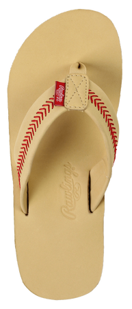 Women's Baseball Stitch Nubuck Leather Sandals