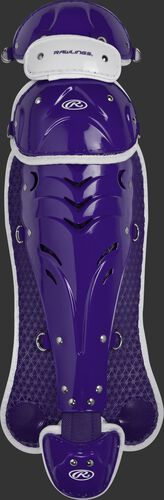Purple SBLGVI Velo intermediate softball leg guards