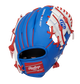 Back of a blue Rawlings Toronto Blue Jays I-web glove with a red Rawlings patch - SKU: 22000004111 image number null