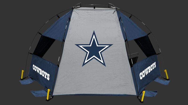 Back of a Dallas Cowboys sideline sun shelter with the Cowboys logo in the middle - SKU: 00961065111