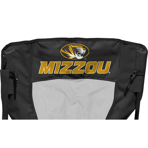 Back of Rawlings Yellow and Black NCAA Missouri Tigers High Back Chair With Team Name #09403086518