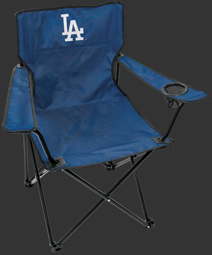 Front of Rawlings Blue MLB Los Angeles Dodgers Gameday Elite Chair With Team Logo SKU #06110011111