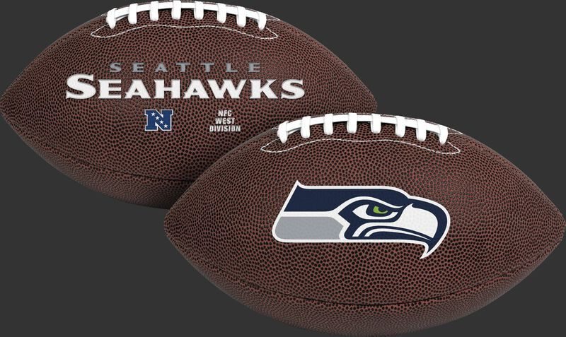NFL Seattle Seahawks Air-It-Out youth football with team name and logo SKU #08041085121