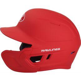 Mach Senior One-Tone Matte Helmet with EXT Flap Scarlet