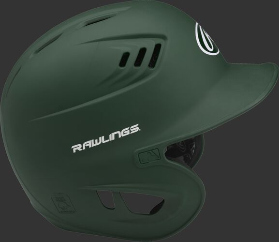 Coolflo High School/College Matte Batting Helmet Dark Green
