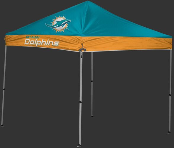 Rawlings Aqua Green and Orange NFL Miami Dolphins 9x9 Canopy Shelter With Team Logo and Name SKU #03231074111