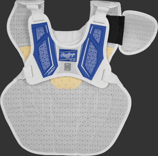 Back harness of a royal CMPCNI Intermediate Mach chest protector