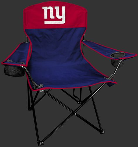 Front of Rawlings Red and Blue NFL New York Giants Lineman Chair With Team Logo SKU #31021078111