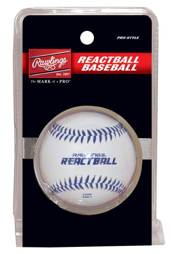 Rawlings White Pro-Style Reactball Baseball SKU #REACTBASEBALL