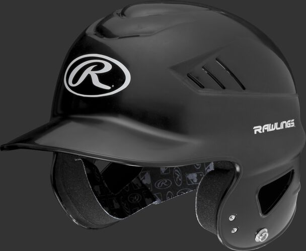 A black Coolflo batting helmet with an Oval-R logo on the front - SKU: RCFH