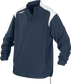 Front of Rawlings Navy Adult Long Sleeve Quarter-Zip Jacket - SKU #FORCEJ-B-88 image number null