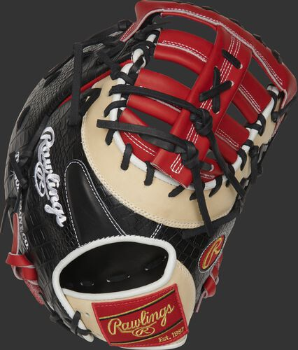 PRODCTSCC 13-inch Heart of the Hide ColorSync first base mitt with a black croc embossed leather back