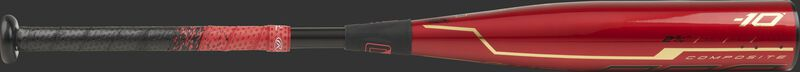 UTZQ10 Quatro Pro -10 USSSA bat with a red barrel and black/red grip