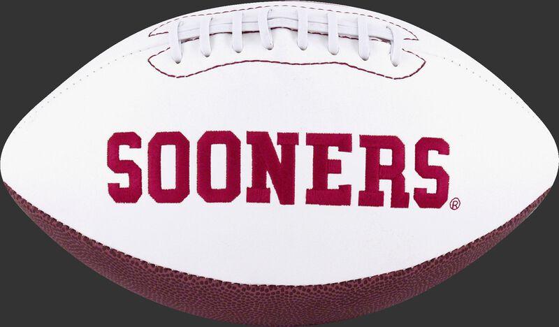 White NCAA Oklahoma Sooners Football With Team Name SKU #05733045121