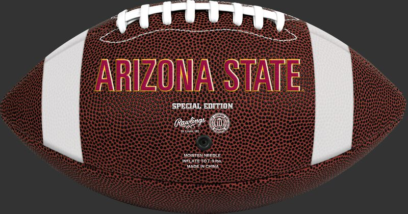 Brown NCAA Arizona State Sun Devils Football With Team Name SKU #04623001811