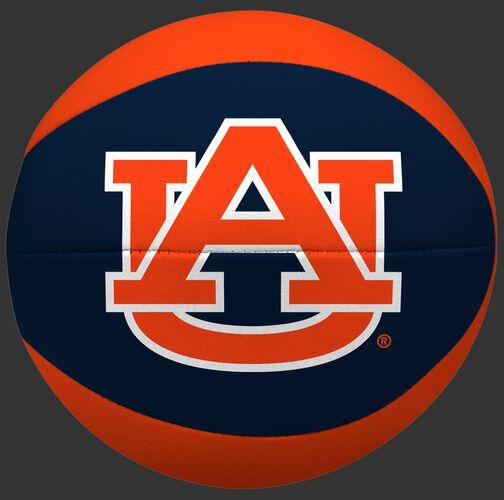 A navy/orange NCAA Auburn Tigers Softee Basketball featuring a printed team logo SKU #04433003111