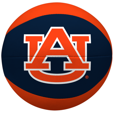A navy/orange NCAA Auburn Tigers softee basketball featuring a printed team logo