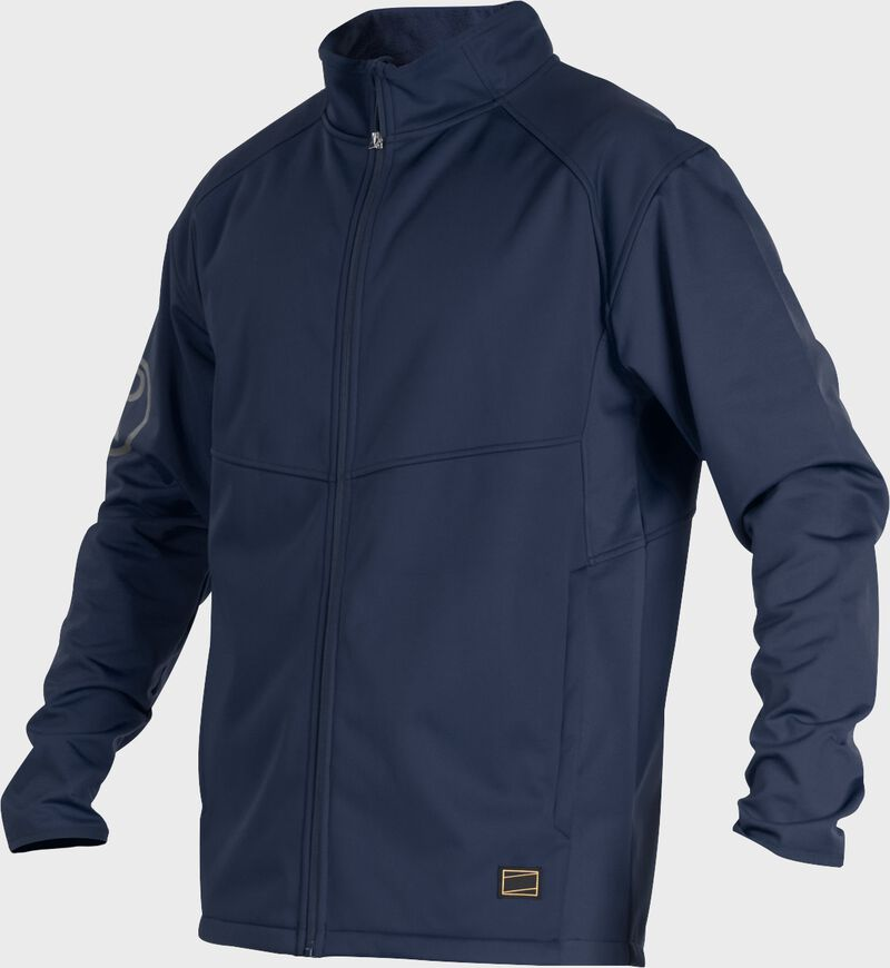 A navy Gold Collection mid weight jacket with long sleeves and full zip - SKU: GCMW2-N