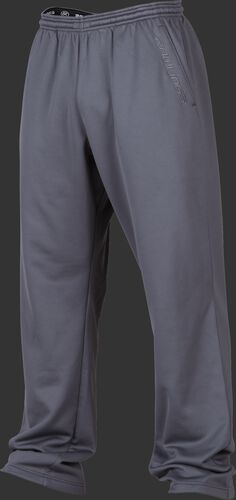 Front of Rawlings Gray Adult Performance Fleece Pants - SKU #PFP