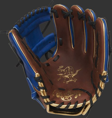 PRO204W-2TIR Rawlings HOH exclusive baseball glove with a timberglaze palm, black laces and royal web