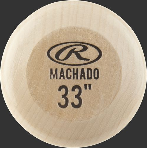 Knob of a MM8PL Rawlings Manny Machado wood bat